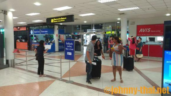 チェンマイ空港のミーティングポイント