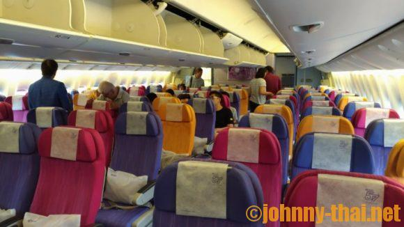 タイ航空の機内