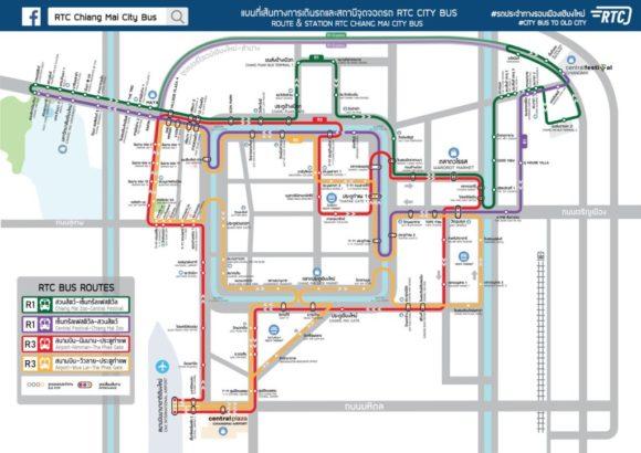 チェンマイスマートバス路線図