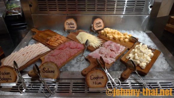 ル・メリディアンチェンマイの朝食ブッフェ