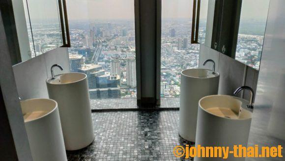マハナコンスカイタワー屋内展望フロア(75階)のトイレ