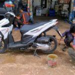 タイでタイヤのパンク修理