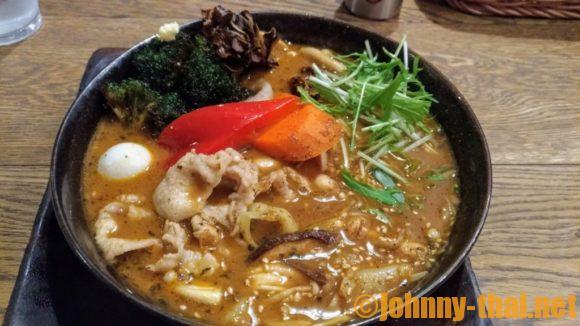 GARAKU札幌本店のスープカレー(豚しゃぶ)