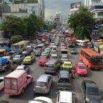 バンコクの渋滞する道路