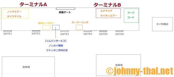 ウドンタニ空港MAP