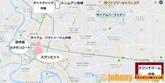 バンコク市内簡易マップ